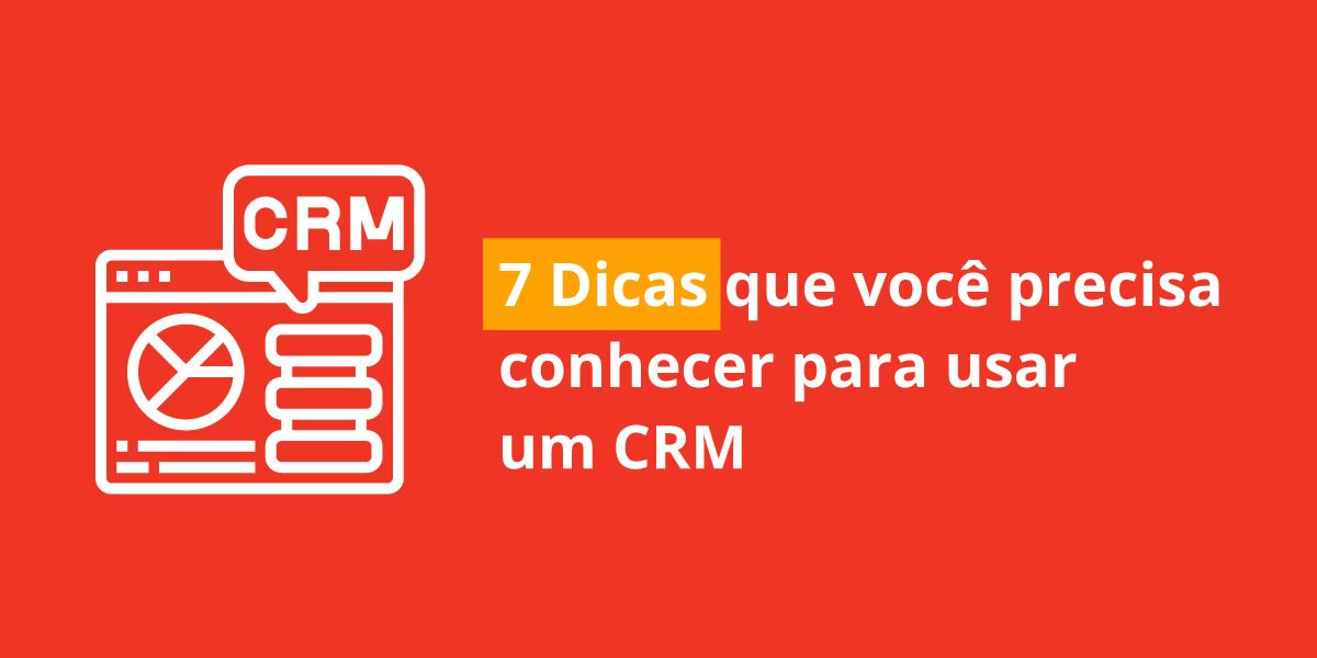 Usar um CRM