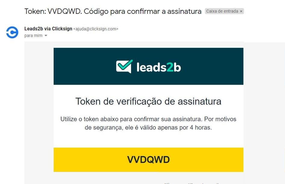 Vendas remotas - token de verificação de assinatura
